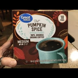 Pumpkin spice flavored coffee pods